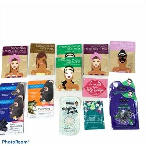 Lot of 14 Brand New Face Lip and Eye Masks